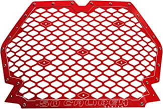 Red Custom CNC Grill to Increase Air Flow for 2019 Polaris RZR XP1000, XP Turbo, Turbo S 2 & 4 Seat [5358A6]