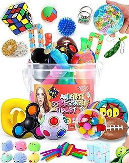 Yuhao Sensory Stress Relief Fidget Toys Set for Adults 38PCS Push Pop Autism Special Needs Sensory Toys Pack Party Favors ...