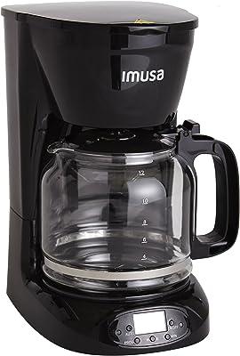 IMUSA USA USA - Filtro extraíble para cafetera (12 tazas), color negro