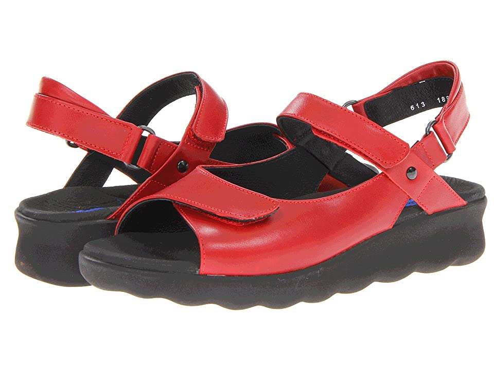 Wolky Pichu (Red Leather) Women