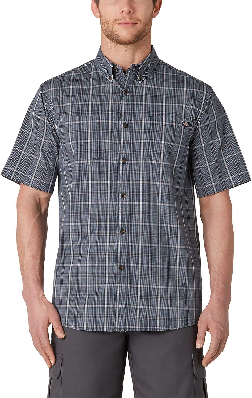Dickies Men's Short Sleeve Flex Woven Shirt Relaxed Fit