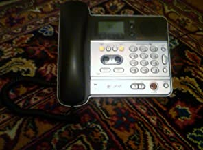 AT&T TL76108 5.8GHz Two-Line Digital Corded/Cordless Answering System - Titanium and Metallic Charcoal