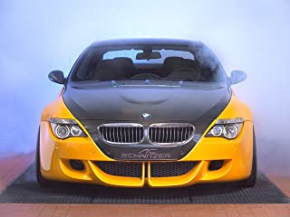 AC Schnitzer Tension Concept Based on BMW M6 (2005) Car Art Poster Print on 10 mil Archival Satin Paper Yellow Front Closeup Studio View 24