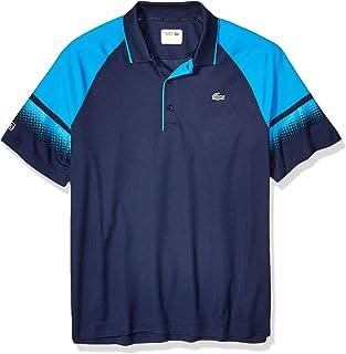 Lacoste Men's Sport Short Sleeve Ultra Dry Raglan Polo W/Gradient Print