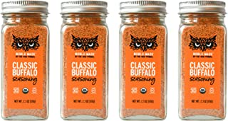 Noble Made by The New Primal Classic Buffalo Seasoning Spice & Dry Rub, 2.3 Oz Glass Jars (4 Count) - USDA Organic, Whole3...