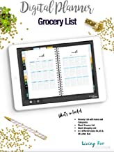 Digital Planner List Blue for your digital Planner or Journal (GoodNotes): Plan your Day and reach your Goals