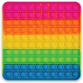 Better Office Products - Juguete de silicona extra grande, 100 burbujas, juguete sensorial, 20,32 x 20,32 cm cuadrado (10 ...
