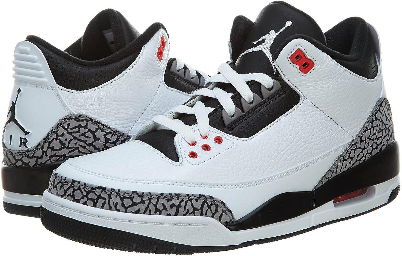 Jordan Nike Mens Air 3 Retro Leather Basketball Shoes B00IPS9Y1K  | Attraktiv Und Langlebig