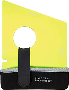 Swedish Ice Scraper ICE02 ORIGINAL Yellow with Holder: image