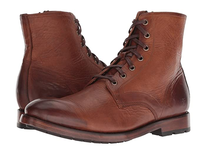 1920s Style Mens Shoes | Peaky Blinders Boots Frye Bowery Lace-Up Cognac Antique Pull-Up Mens Lace-up Boots $357.95 AT vintagedancer.com