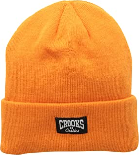 Crooks & Castles Men's Knit Beanie Hat-Core Logo