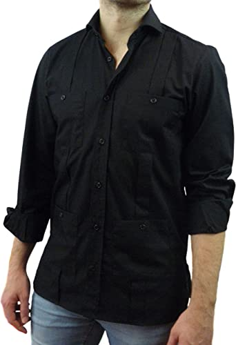 Camisa Guayabera Caballero Negra