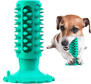 Sponsored Ad - FYATTVA Dog Chew Toys Dog Toothbrush Toy Squeaky Dog Toy Indestructible Dog Molar Rod Natural Rubber Pet ...