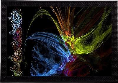 eCraftIndia 'Neon Colour Abstract' UV Art Painting (Synthetic Wood, 51 cm x 36 cm, Satin Matt Texture)