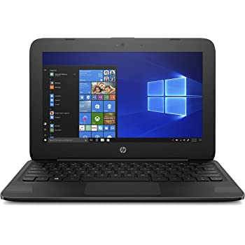 """HP Stream Laptop PC 11.6"""" Intel N4000 4GB DDR4 SDRAM 32GB eMMC Includes Office 365 Personal for One Year, Jet Black"""