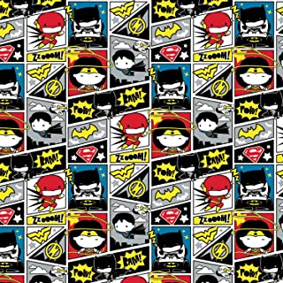 DC Comics Fabric Justice League Comic Book in Multi from Camelot 100% Premium Quality Cotton Fabric by The Yard