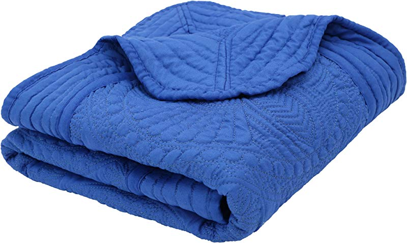 Verabella Baby Quilt Kids Blanket Toddler Lightweight Quit Blanket Royal Blue