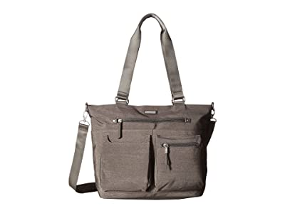 Baggallini New Classic Any Day Tote with RFID Phone Wristlet (Sterling Shimmer) Tote Handbags