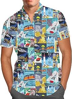 Tomorrowland Disney Inspired Mens Button Down Short Sleeve Shirt