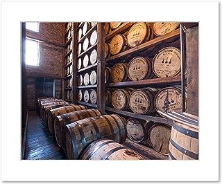 Fine art Print of Bourbon Distillery Rickhouse, 8x10 Matted Photo
