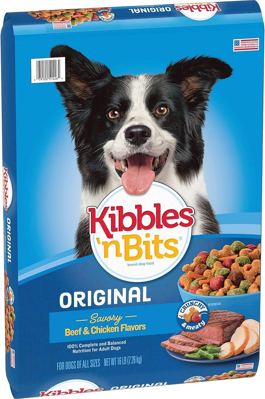 Kibbles 'N Bits Original Savory Beef & Chicken Flavors Dry Dog Food, 16-Pound