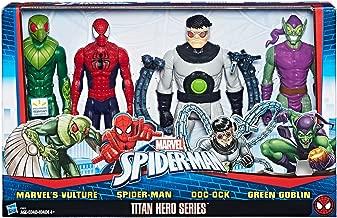 Marvel Spiderman Titan Hero Versus Villians Series Four 12 Inch Figurine Set With 5 Point Articulation
