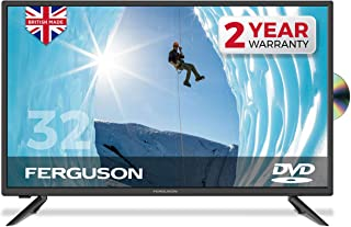 """Ferguson 32"""" LED TV With DVD Player, Freeview HD, USB & 3 x HDMI - British Manufacturer - F3220F (New 2020 Model)"""