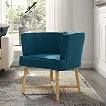 Modway Anders Upholstered Fabric Accent Chair, Azure