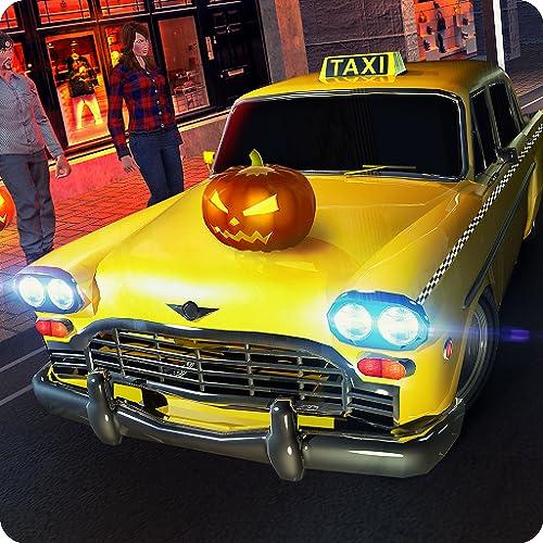 パーティークレイジータクシードライバーラッシュマニアシミュレーター3D:ハロウィーンカードライビング&ツーリストトランスポーターアドベンチャーミッションシミュレーションゲーム無料Kids 2018