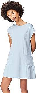 Marca Amazon - find. Vestido Corto con Bolsillos de Plastón para Mujer