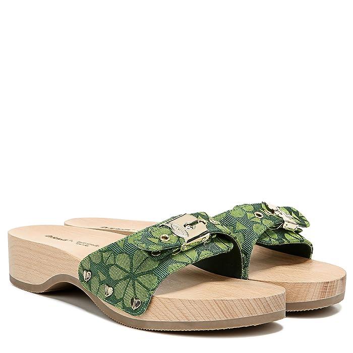 Dr. Scholls  Original - Original Collection (Spade Flower/Green Jacquard) Womens Slide Shoes