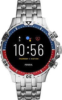 Fossil Gen 5 Garrett Stainless Steel Touchscreen Men's Smartwatch with Speaker, Heart Rate, GPS, Music Storage and Smartph...
