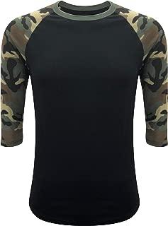 Raglan T-Shirt 3/4 Sleeve Athletic Baseball Jersey Unisex (30+ Colors)