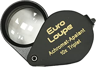EuroTech Euro Loupe 10x Oval Hasting Triplet Loupe 18mm Black