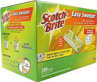 Scotch-Brite Q600RD-200 Easy Sweeper Dry Refill Bulk Pack 200 sheets
