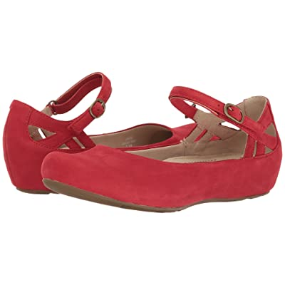 Earth Capri Earthies (Bright Red Soft Buck) Women