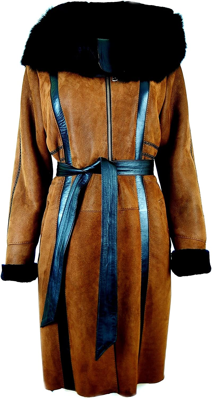 DX-Exclsuive Wear Womens Sheepskin, Lambskin Coat/Leather, Fur Coat KPKD-0002