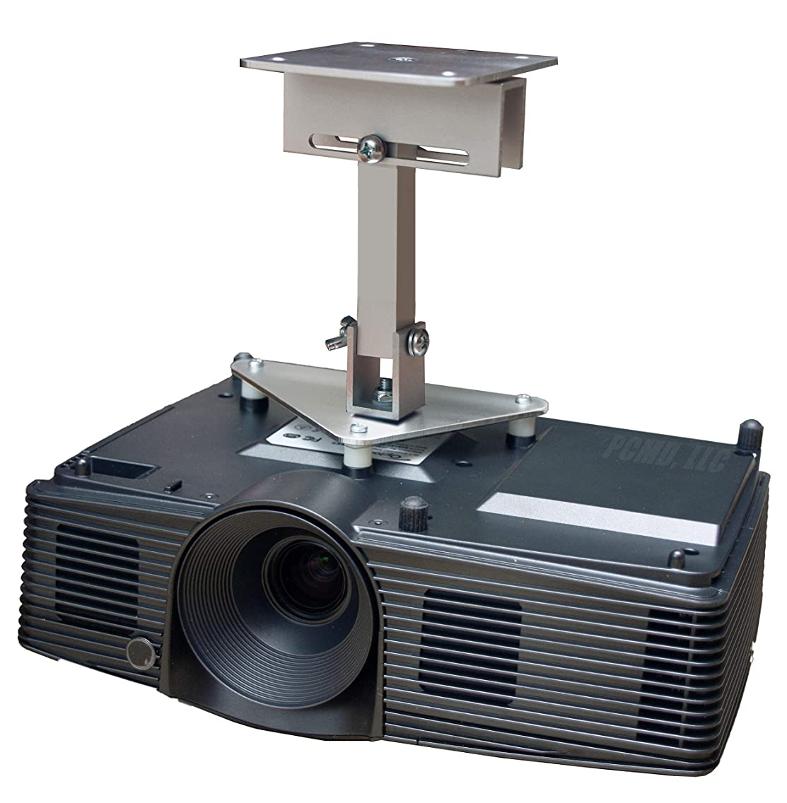 PCMD, LLC. Projector Ceiling Mount Compatible with BenQ MS517H MS524A MS527 MW526A MW571 TW539 TX538 with Lateral Shift Coupling (8-Inch Extension)