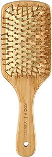 Rozia Pro Hair Brush Wooden Detangling Brushes Natural Detangler Paddle Hairbrush for Women Men Kids Stimulate Scalp Help ...