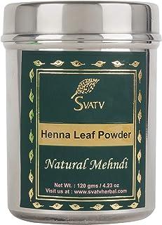 SVATV :: Henna Hair Color/Dye With 9 herbs - 120 Grams - Henna for Hair, Natural Hair Color - Chemical Free Hair Color (Na...