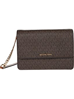마이클 마이클 코어스 Michael Michael Kors Daniela Large Gusset Crossbody,Brown/Acorn