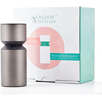 Mobile-Mini 2.0 Wireless Rechargeable Nebulizing Diffuser for Aromatherapy (Charcoal Grey) by Organic Aromas
