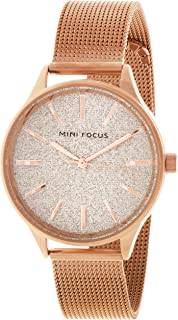 Mini Focus Womens Quartz Watch, Analog Display and Stainless Steel Strap - MF0044L.02