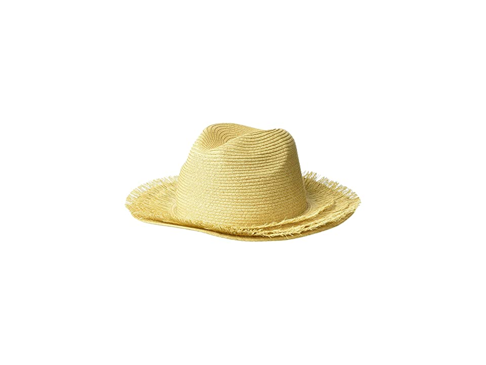 San Diego Hat Company PBF7347 - Paper Straw Fedora with Fray Brim (Natural) Caps, Beige