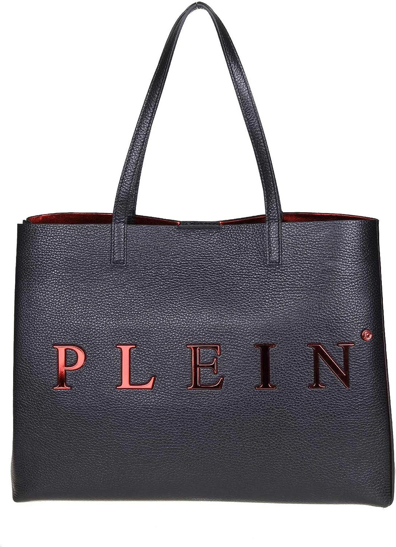 Philipp Plein WBA0834PCO011N02 Damen Damen Damen Schwarz Leder Tote B07PM75972 7172b4