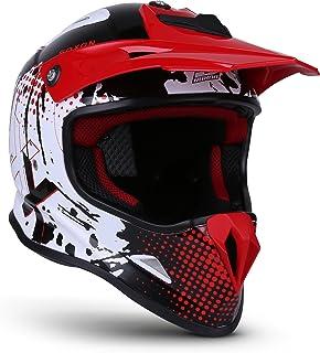 "Soxon SKC-33 ""Fusion White Red""  Kinder Cross-Helm  Motorrad-Helm MX Cross-Helm MTB BMX Cross-Bike Downhill Off-Road Moto-Cross  ECE 22.05 Schnellverschluss SlimShell Tasche XS 51-52cm"