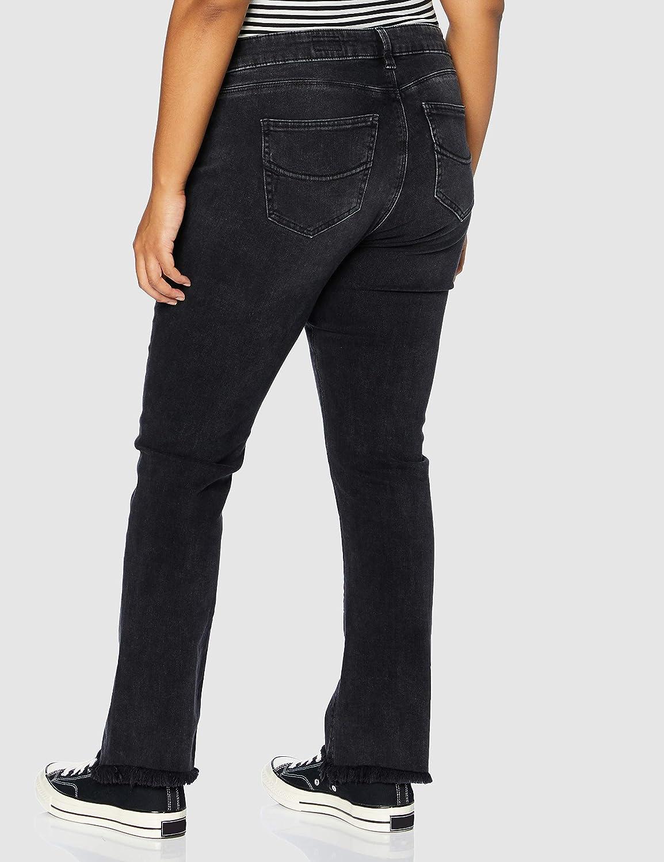 Herrlicher Super G Boot Cropped Denim Black Cashmere Touch Jeans Femme Wreck 631