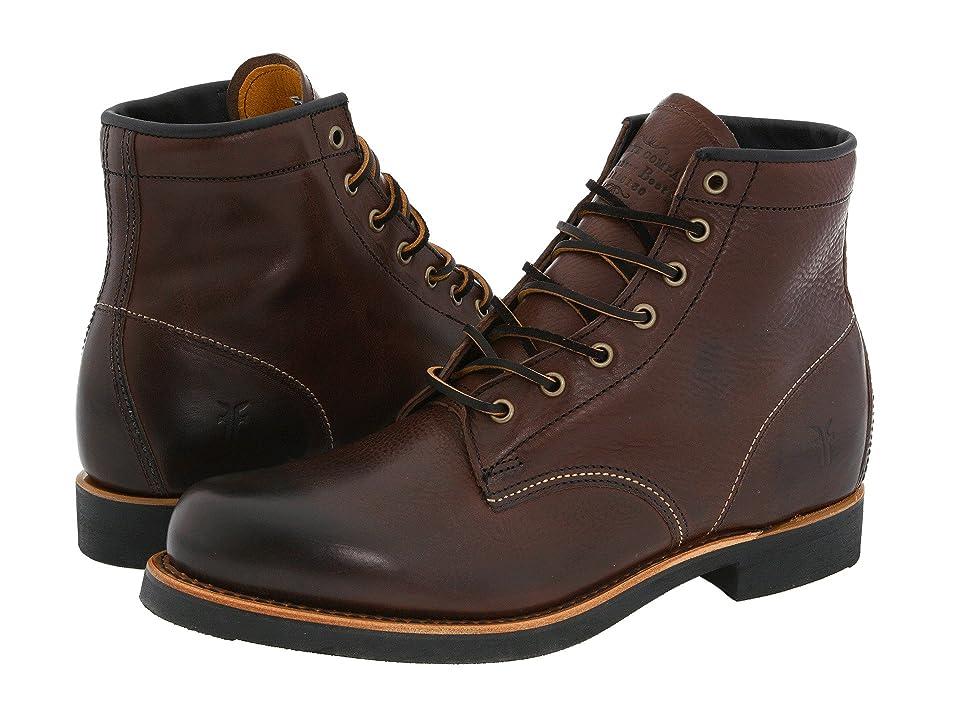 Frye Arkansas Mid Lace (Dark Brown Full Grain Leather) Men