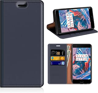 OnePlus 3T Wallet Case, Mobesv OnePlus 3T Leather Case/OnePlus 3 Phone Flip Book Cover/Viewing Stand/Card Holder for OnePlus 3T/OnePlus 3, Dark Blue