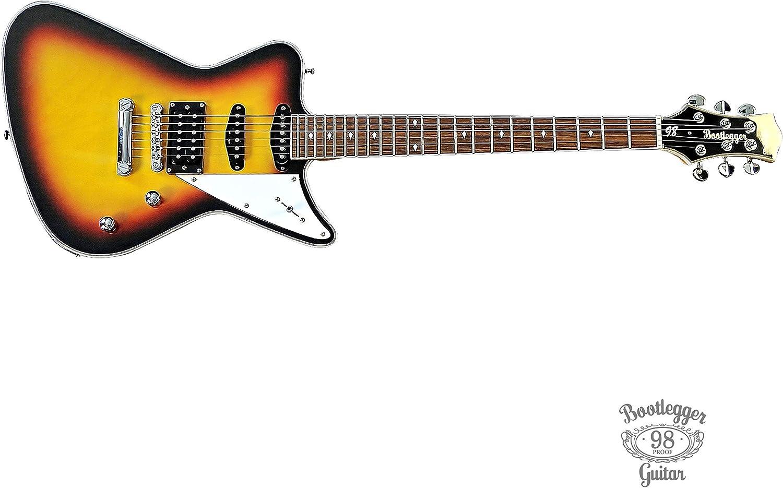 Bootlegger Guitar Hounder 6 新品 送料無料 即納送料無料 String Body O Classic Solid Electric